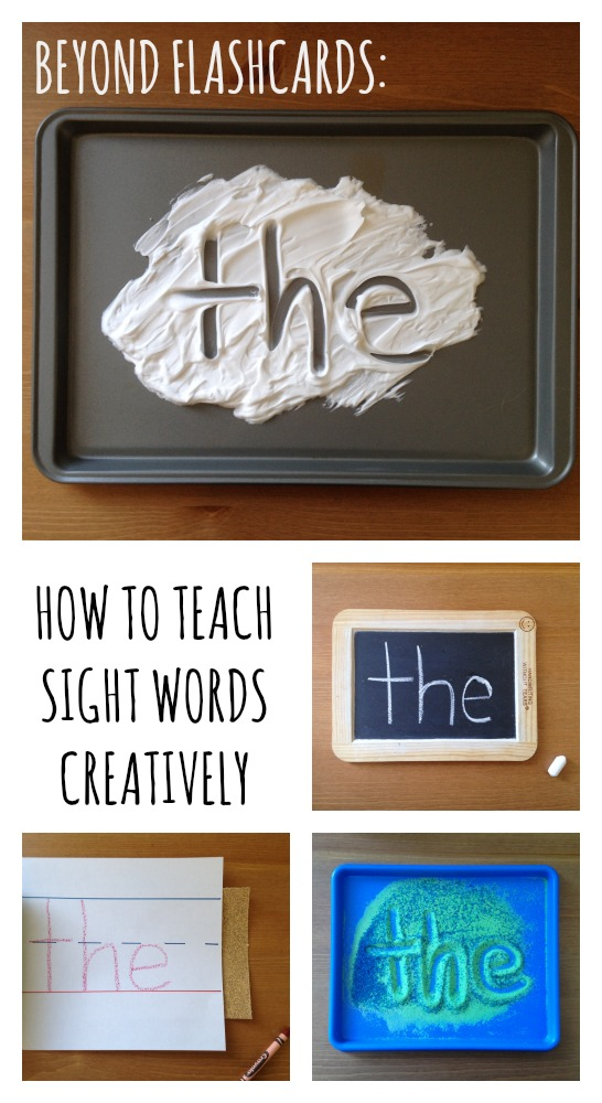 Beyond Flashcards: How to Teach Sight Words Creatively