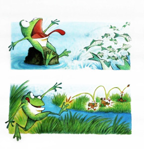 """Illustration from """"Prince of a Frog"""""""