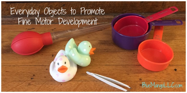 Improve fine motor and handwriting skills with everyday household objects