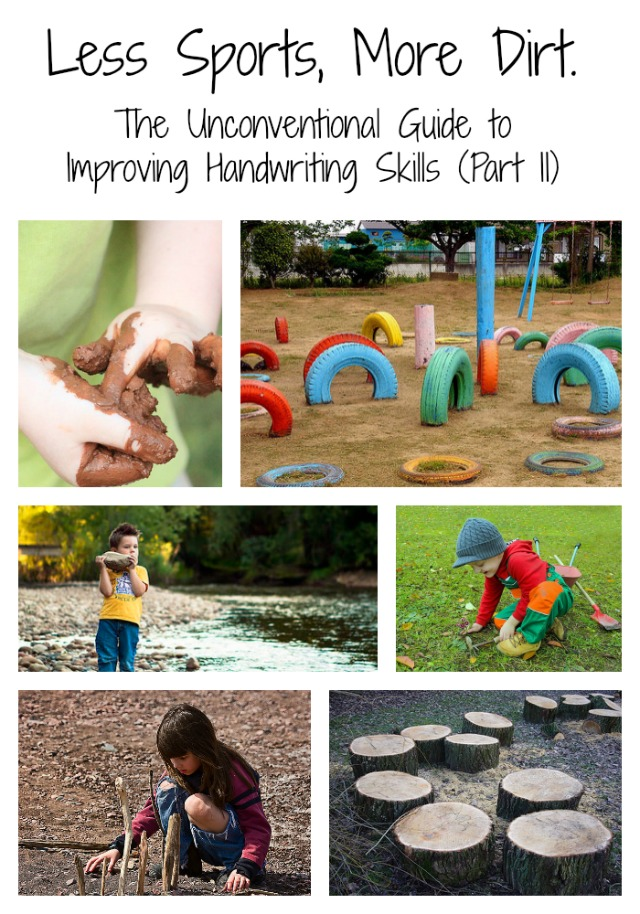 Less Sport, More Dirt: How to improve handwriting skills