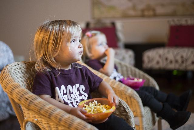 popcorn and tv