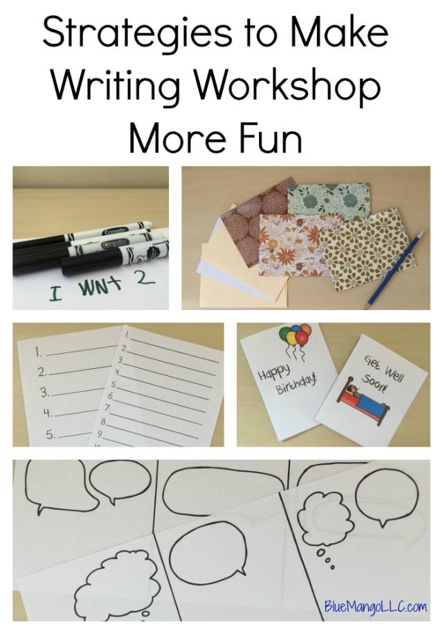 Simple strategies to make writing workshop more fun!