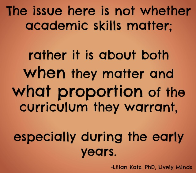 Academics in early childhood education