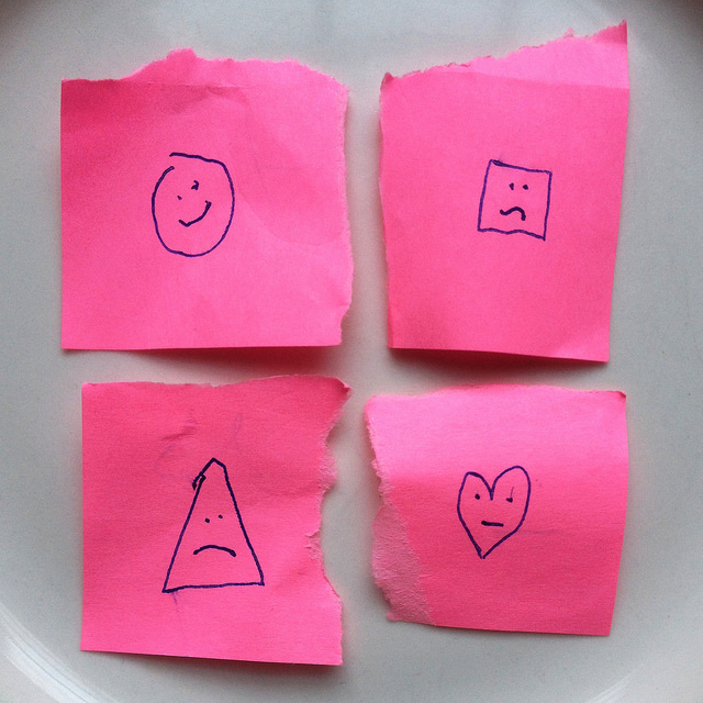 pink paper emotions