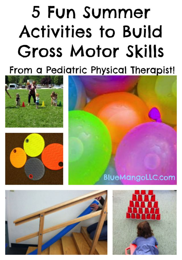 5 Fun Summer Activities to Build Gross Motor Skills (from a pediatric physical therapist!)